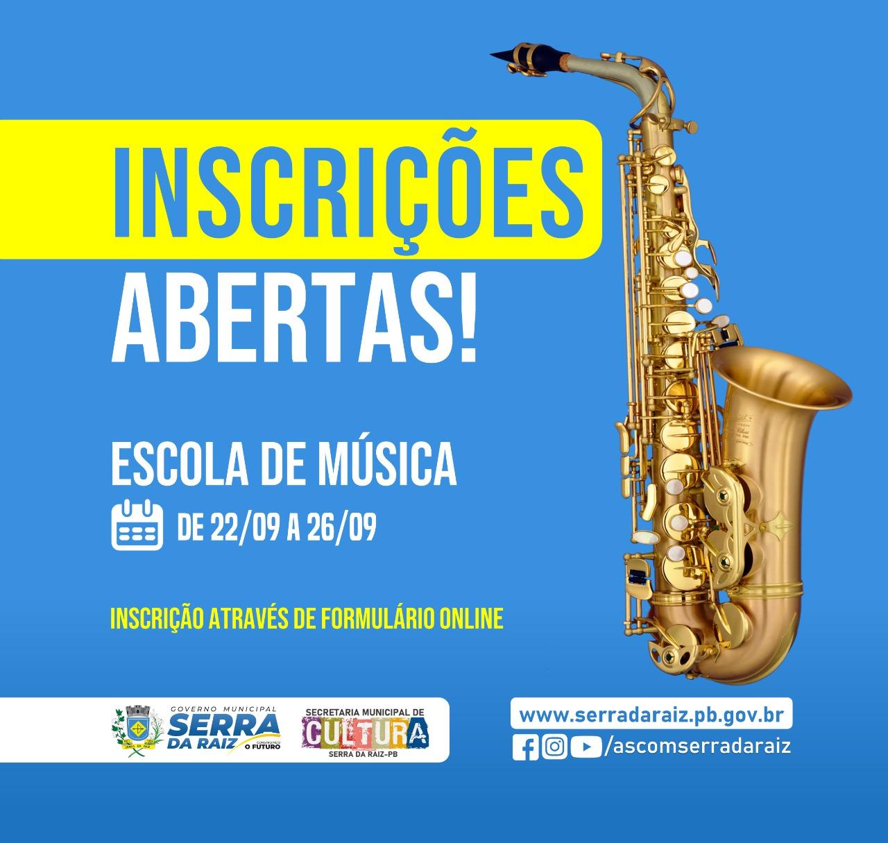 Gestão abre inscrições para escola de música Joaquim Menezes
